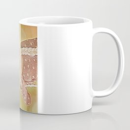 Drinking tea with with piggie and teapot on head Coffee Mug