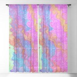 Wet Paint Sheer Curtain