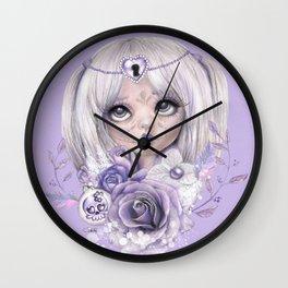 Lavender Grey - Sugar Sweeties - Sheena Pike Art & Illustration Wall Clock