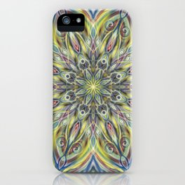 Colorful Center Swirl iPhone Case