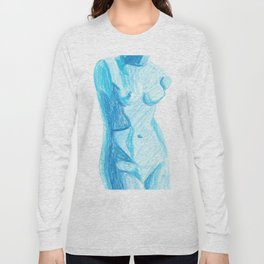 Blue Nude Long Sleeve T-shirt