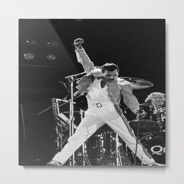 FreddieMercury, Freddie#Mercury at concert  Poster Metal Print