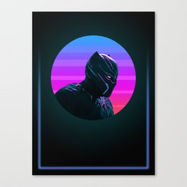 Black Panther 80's Character Poster Canvas Print