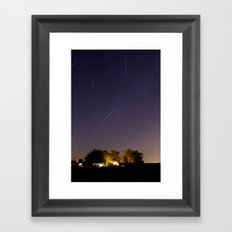 Stars Over The Ditch Framed Art Print