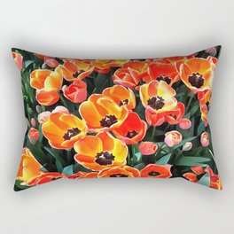 Bright Red Tulips of Istanbul Rectangular Pillow