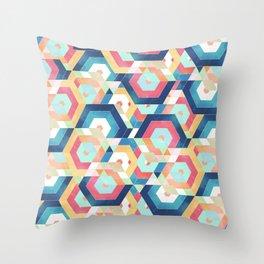 Modern geometric abstract pattern Throw Pillow