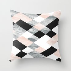 Pastel Scheme Geometry Throw Pillow