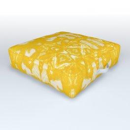 Yellow Oxford Shibori Outdoor Floor Cushion