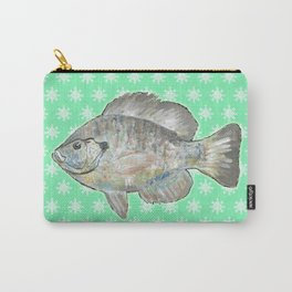 Bluegill and Green Wallpaper Design Carry-All Pouch