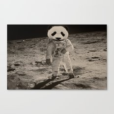 One Small Step For Man, One Giant Panda For Mankind Canvas Print