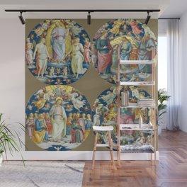 """Raffaello Sanzio da Urbino """"Ceiling Of The Stanza Dell Incendio Del Borgo"""" Wall Mural"""