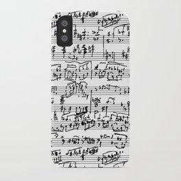 Hand Written Sheet Music iPhone Case