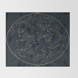 Winter Constellations Throw Blanket