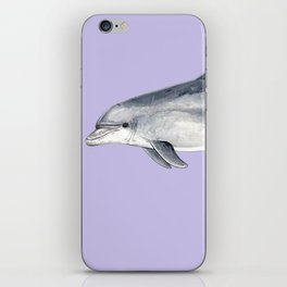 Bottlenose dolphin purple background iPhone Skin