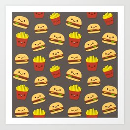 Fastfood pattern Art Print