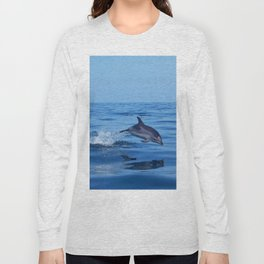 Spotted dolphin jumping in the Atlantic ocean Long Sleeve T-shirt