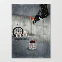 glados Canvas Prints featuring Glados' Birthday by Melissa Smith