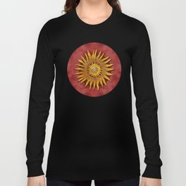 """Aztec Sun and pickled coral"" Long Sleeve T-shirt"
