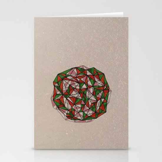 - red orange green - Stationery Cards
