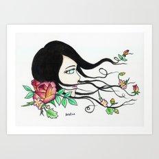 flowing beauty Art Print