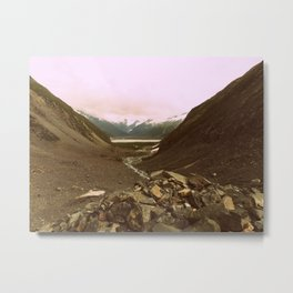 Between Two Mountains | Photography Metal Print