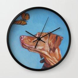 VIZSLA dog art portrait from an original painting by L.A.Shepard Wall Clock