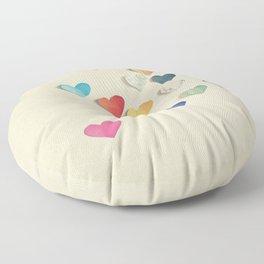 Paper Hearts Floor Pillow