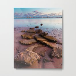 Stepping Into the Bay Metal Print