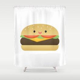 Happy Cheeseburger Shower Curtain