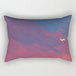 A Lone Flight Amongst The Pastel Unknown. Rectangular Pillow
