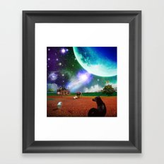 A Most Unusual Evening Framed Art Print