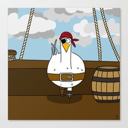 Eglantine la poule (the hen) disguised as a pirate. Canvas Print