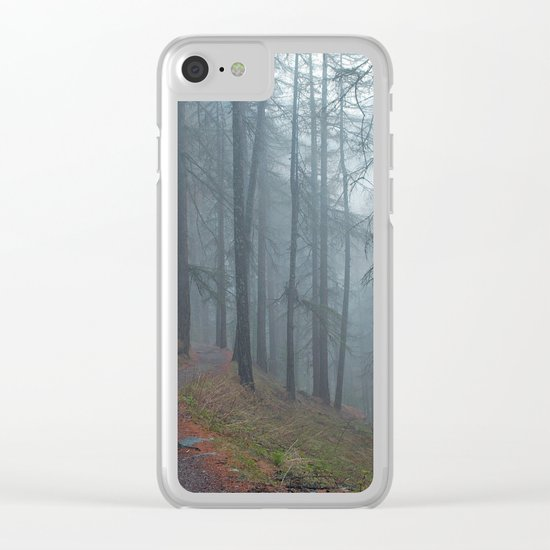 Forest vibes #foggy Clear iPhone Case