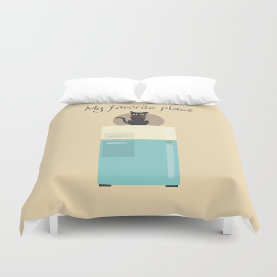 My Favorite Place Duvet Cover