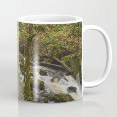 Lodore Falls waterfall after heavy rain. Borrowdale, Cumbria, UK. Mug