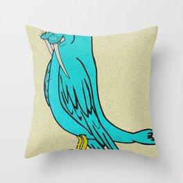 Aquatic Aviator Throw Pillow