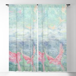 In the Pyrenees, arylic birds Blackout Curtain