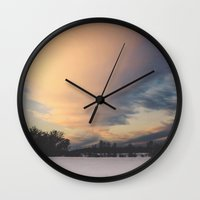 elmo Wall Clocks featuring Big Sky by Kimberley Britt