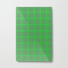 Chequered Green Metal Print