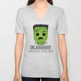 Frankenstein Wants Candy Unisex V-Neck