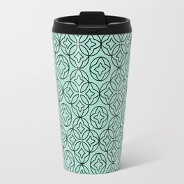 Ancient Pattern Illustration in Blue Travel Mug