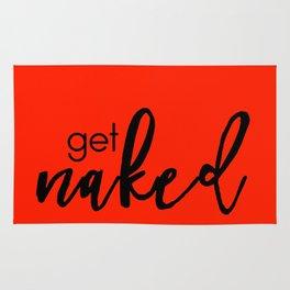 Get Naked // Black on Red Rug