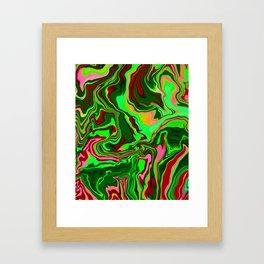 Green Pink Abstract Art Digitalart Painting Gift Framed Art Print