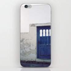 Santorini Door IV iPhone & iPod Skin