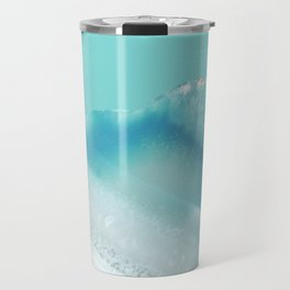Geode Crystal Turquoise Blue Travel Mug