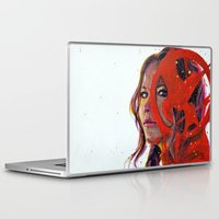 katniss Laptop & iPad Skins featuring Katniss by Alina Rubanenko