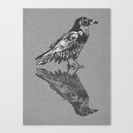Raven Grey Canvas Print