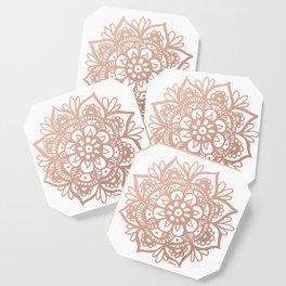 Rose Gold Mandala Coaster