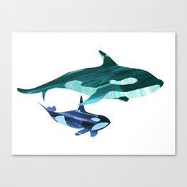A swim together Canvas Print