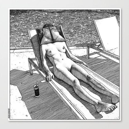 asc 614 - Le blues de janvier (HIM)  Second version Canvas Print